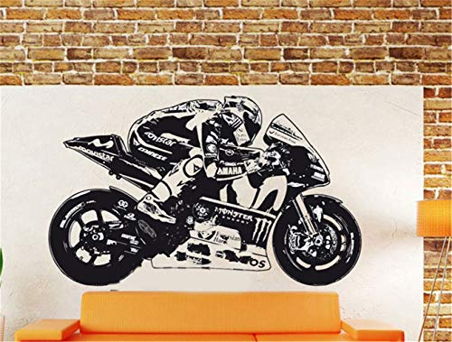 Wandaufkleber Graffiti New Moto Gp Valentino Rossi Wall Art Sticker Moto Gp Poster Motorcycle Racing decal for boys bedroom