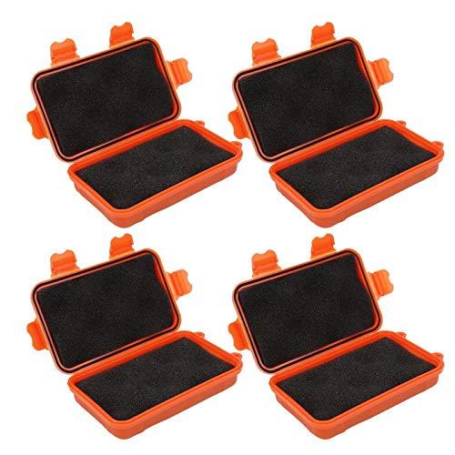 4PCS Aufbewahrungsbox mit 3MMPE Stoßdichter Verschlussbox zur Aufbewahrung kleiner Gegenstände, bequem und sicher zu transportieren