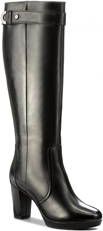 Geox Damen Stiefel Sehr Bequeme Bequeme und Elegant D Inspiration PL E Schwarz D746AE00043C9999 (39)  einfaches und großzügiges Design