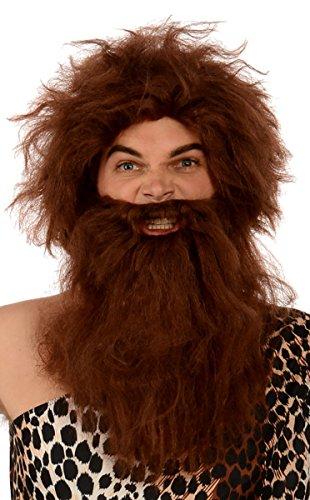 Kangaroo Costumes - Prehistoric Caveman Wig and Beard Unisex