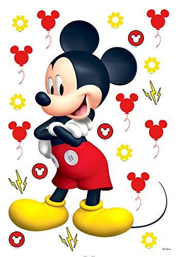 1art1 Mickey Mouse Sticker Adhésif Mural Autocollant - Mickey Balloons (65 x 42 cm)