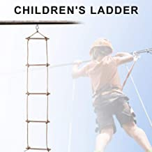 nattiness Climbing Ladder Outdoor Sturdy Playground Accessories Children's Playground Sports Climbing Toys, Rope Wooden Five-Level Ladder Gymnastic Climbing Rope Ladder attractively