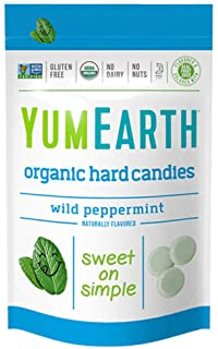 YumEarth Organic Wild Peppermint Hard Candy, 3.3 Ounce (Pack of 6)