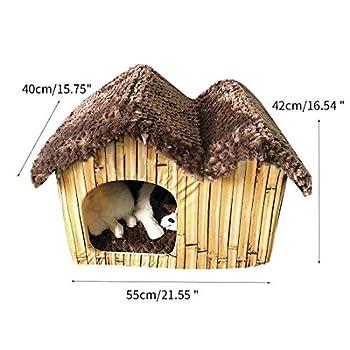 FREAHAP R Maison Chenil Chien Intérieur Niche pour Animal de Compagnie Détachable Chaud avec Coussin Amovible #3