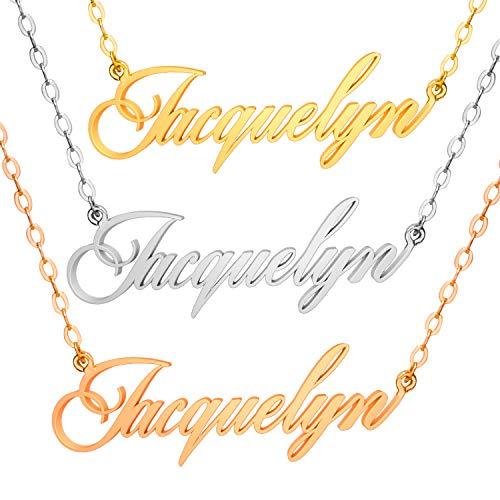 ABIsedrin Collana Personalizzata - Collana con Nome in Argento Sterling 925 - Collana Donna Uomo Happiness Boutique Collana Collana Amicizia