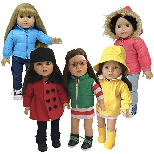 The New York Doll Collection Winter Wear Set (For 18