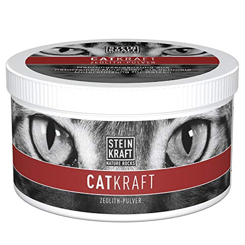 STEINKRAFT ZEOLITH-Klinoptilolith Pulver für Katzen + alle Klein-Tiere, unterstützt mit natürlichen Mineralien, für Wohlbefinden, direkt vom Hersteller aus Österreich