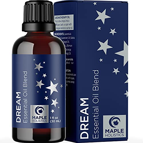 Sleep Essential Oil Blend for Diffuser – Dream Essential Oils for Diffusers Aromatherapy and Wellness with Ylang-Ylang Clary Sage Roman Chamomile and Lavender Essential Oils for Sleep Support