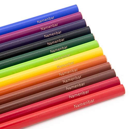 Stabilo Dreikant Buntstifte mit Namen - individuell graviert - personalisiert - 12 Stück