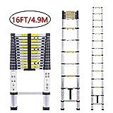 Telescoping Extension Ladder Aluminum Telescopic Foldable Long Extend and Climb Lightweight Ladder...