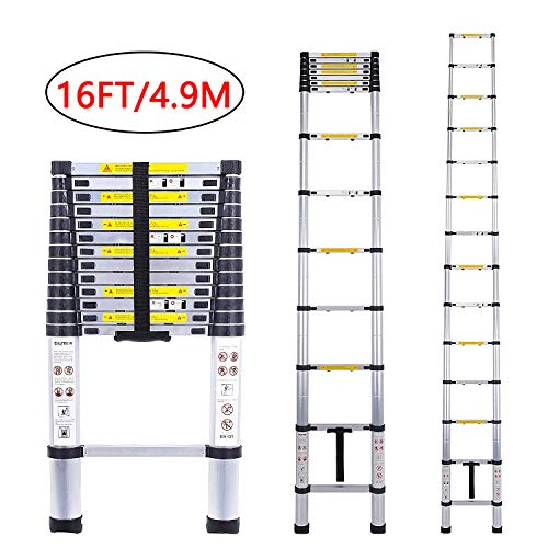 ARCHOM Telescoping Extension Ladder Aluminum...