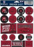 WinCraft NCAA Arkansas Razorbacks Vinyl-Aufkleber-Set, 12,7 x 17,8 cm Blatt