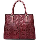 Purses and Handbags for Women Fashion Ladies Designer Leather Top Handle Satchel Handbags Shoulder Tote Bags Red