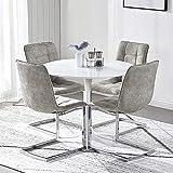 Esstisch und Stuhl Set, Küchentisch und 4...