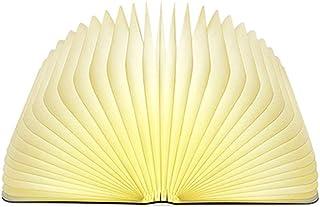 LEDブックランプ木製折りたたみ常夜灯バッテリー式可変シェイプテーブルフロア天井ベッドサイドランプ実用的で美しい照明器具屋内使用,White