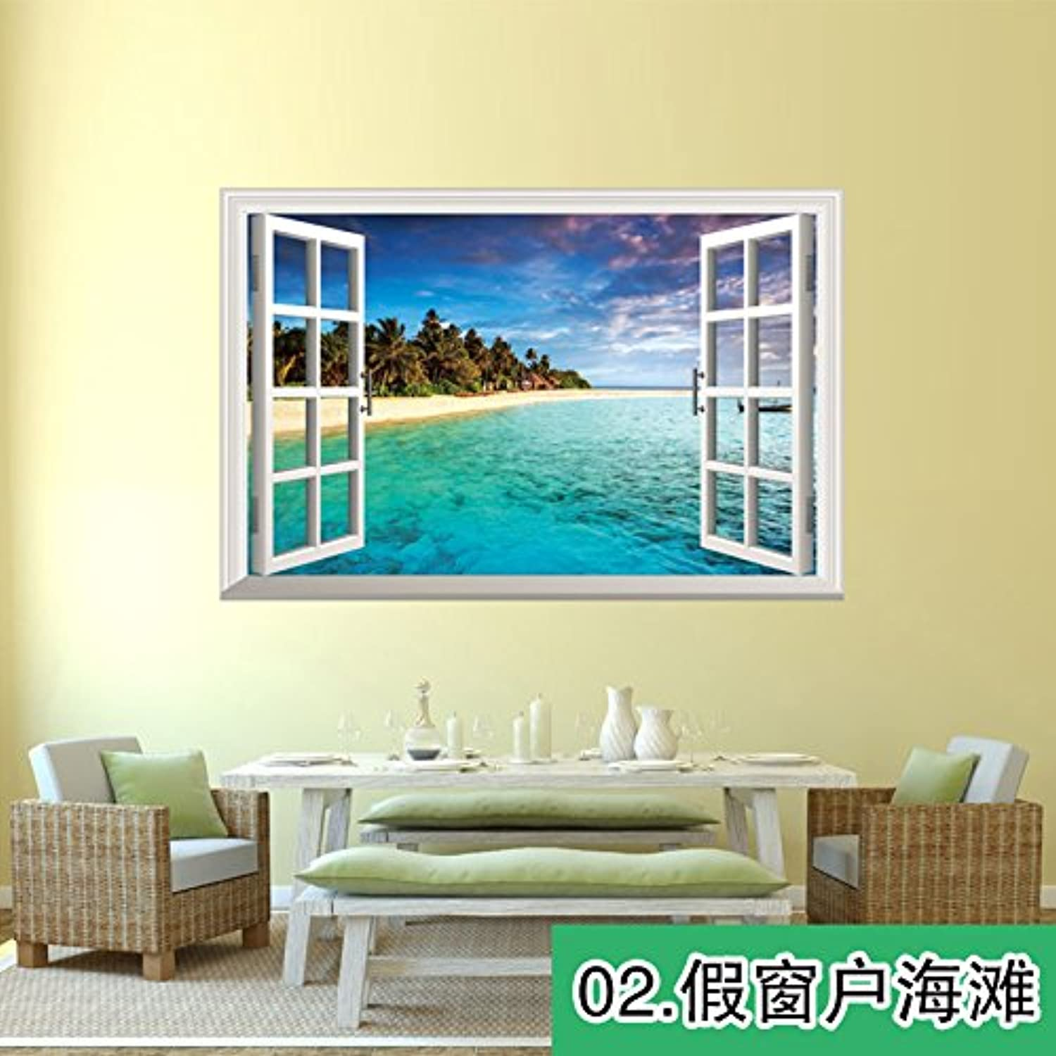 Znzbzt 3D Wall Posters self Adhesive Wallpaper Decorated with Posters and Stickers to Leave Windows 2