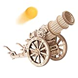 ROKR 3D Wooden Puzzle Medieval Cannon Model Kits Building Set Gifts for Adults&Teens
