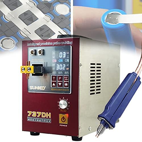 DDCHH 737DH Soldadora de Puntos de Pulso, Modos de Soldadura Dual Máquina de Soldadura a Batería con Pantalla de Pulso Y Corriente 4.3kw, para Baterías 18650 16430 26650 32650