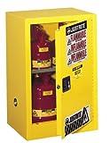 Justrite 891200 Sure-Grip EX 12 Gallon, 35' H x 23-1/4' W x 18' D, 1 Door, 1 Shelf, Manual-Close Yellow...