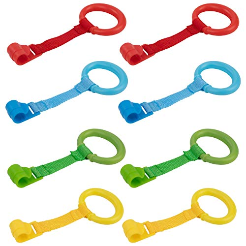 Anelli Box Bambini Multicolore Anelli per Culla e Lettino per Aiuta il Bambino a Imparare a Stare in Piedi 8 Pezzi