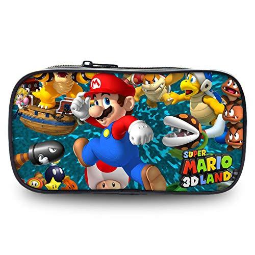 Fuovt Super Mario Zipper Pencil Case for Toy and Pen Storage Bag (F)