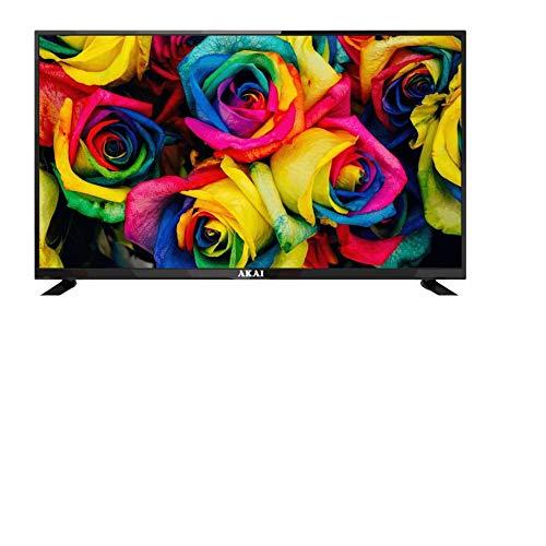 AKAI TV Aktv3228, TV con Schermo LED da 32 Pollici Hd Smart Android, Soundbar Incorporata