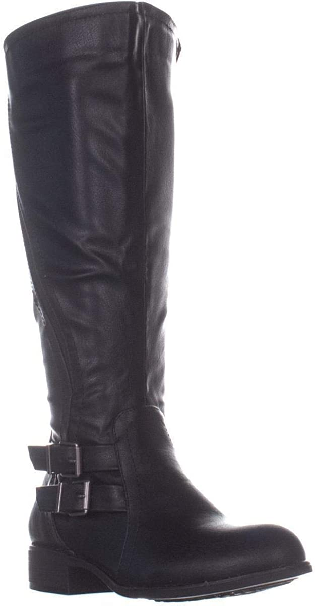 Style & Co. Womens Milah Almond Toe Knee High Riding Boots, Black, Size 5.0