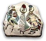 "DaDa Bedding Elegant Tapestry Throw Blanket - Dancing Women African Dreams Festive Celebrate Kwanzaa w/ Fringe Tassels - Cottage Woven Ethnic Culture Needle Stitched Design - 50"" x 60"" (7173)"