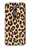 R2204 Leopard Pattern Graphic Printed Case Cover for Nokia X6, Nokia 6.1 Plus