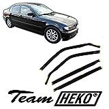 J&J AUTOMOTIVE | Deflecteurs d'air déflecteurs de Vent Compatible avec 3 Série E46 4 Portes Limousine 1998-2005 4 pièces