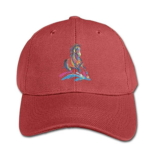 Colorful Horse Pure Color Baseball Cap Cotton Adjustable Kid Boys Girls Hat