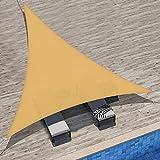 Velway Tenda a Vela Ombreggiante Triangolare 3x3x3m, Telo Parasole Tenda da Sole Esterno i...
