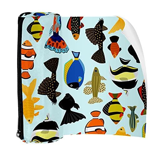 Federmäppchen mit niedlichem Cartoon-Design für Aquarien, Fische, Stift-Reißverschluss-Tasche für Schreibwaren, Reisen, Schule, Studenten