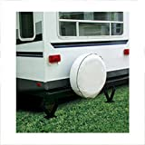 Camco 45356 Vinyl RV Spare Tire Cover (27 inches  , off-white)