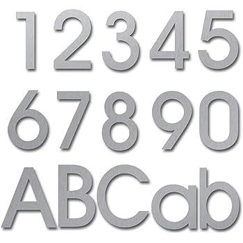 aus massivem 304 Edelstahl modern schwebende Optik und einfache Montage geb/ürstet 205 mm hoch Hausnummer Nummern 1 Eins