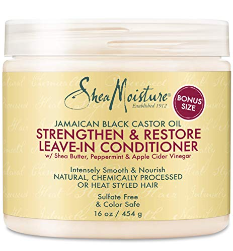 Shea Moisture Strengthen & Restore Leave-In Conditioner 16 oz (Pack...
