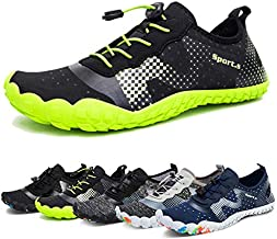 Water Shoes for Men and Women Quick-Dry Aqua Sock Outdoor Athletic Sport Shoes for Kayaking,Boating,Hiking,Surfing,Walking (A-Black/Green, 44)