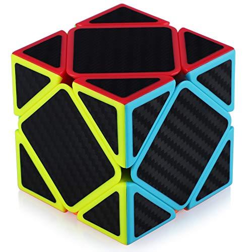 TOYESS Skewb Cube Rompecabezas Cubo de Fibra de Carbono 3x3x3 Cubo Magico Liso Cubo de Velocidad Regalo para Adulto Niños,Negro
