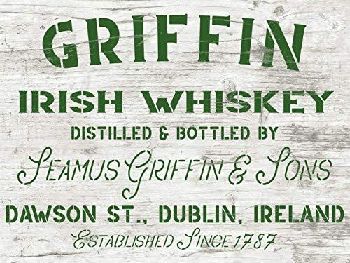 Griffin Irish Whiskey Schablone