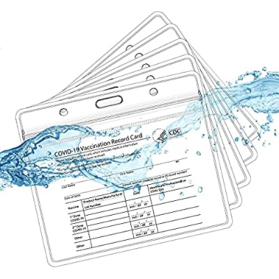 Vaccination Card Protector, CDC Vaccine Cards H...