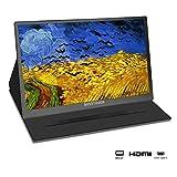 Portable Monitor 15.6-inch1920×1080 Full HD IPS 60Hz USB C Gaming Monitor with 2xUSB -Type-C/Mini...