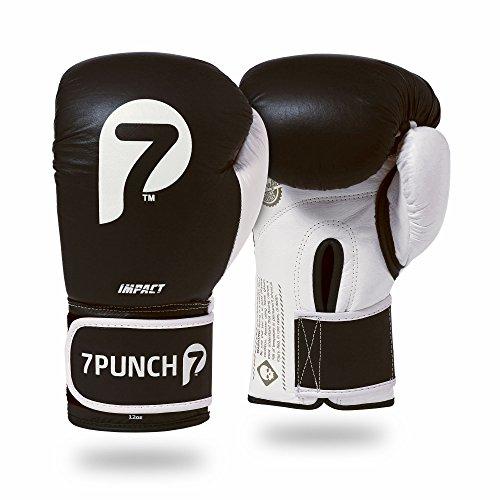 7Punch Boxhandschuhe Impact Leder schwarz