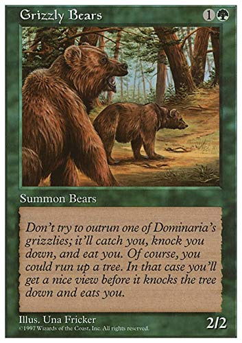 Magic The Gathering - Grizzly Bears - Fifth Edition