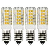 Bombilla LED de 12 V E14, 4 W, blanco cálido 3000 K, equivalente a 35 W-40 W, halógenas SES pequeñas, casquillo Edison de baja tensión, no regulable, juego de 4