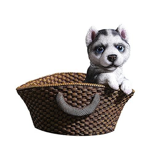 LOVIVER Cute Animals Catchall Escritorio Vanity Valet Tray Entrada Entrada Almacenamiento Hogar Llave Organizador de Teléfono Candy Nuts Exhibición de Joyas C - 16.5x14.5x15cm Negro