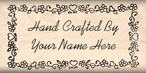 Custom Made & Personalized – Hand Crafted by Rubber Stamp – 1 inch x 2-1/4 inches - Font Choices