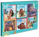 VAIANA - Coffret 12 Livres - 6 Histoires + 6 Coloriages - Disney