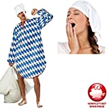 PARTY DISCOUNT Kostüm-Komplett-Set Bayrisches Nachthemd Gr. L