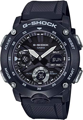CASIO Unisex Erwachsene Analog – Digital Quarz Uhr mit Resin Armband GA-2000S-1AER