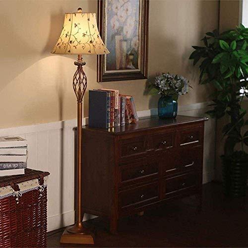 Lámpara de pie duradera Lámpara de pie Lámpara de pie LED Control remoto Atenuación Country Retro Simple Vertical Sala de estar Dormitorio Lámpara de pie junto a la cama Hyococ (Tamaño: A-foot Switch)